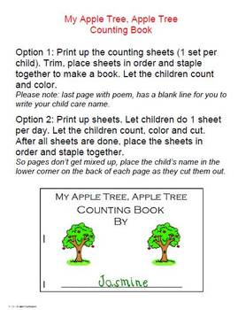 Apple Tree, Apple Tree Worksheets and Crafts