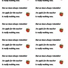 Apple for the Teacher Labels