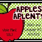 Apples Aplenty {Language Arts and Math Acitivities}