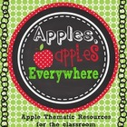 Apples Apples Everywhere printable classroom thematic reso