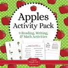 Apples Galore! Literacy and Math Pack - 10 Centers and Activities