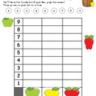 Apples Graphing & Dice Center Activities