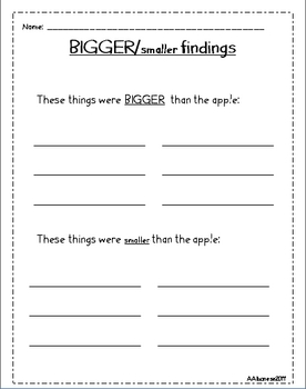 Apples Literacy and Math Activities
