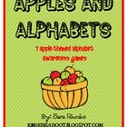 Apples and Alphabets {7 apple-themed alphabet awareness ac