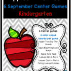 Apples and Leaves: 6 Kindergarten Common Core Center Games Kit