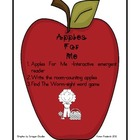 Apples for Me - positional word emergent reader