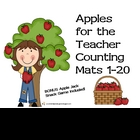 Apples for the Teacher Counting Mats & Bonus Game