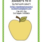 Apples to Ten Math Sorting Center/Station