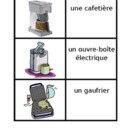 Appliances in French Maison games:  Concentration, Slap, O