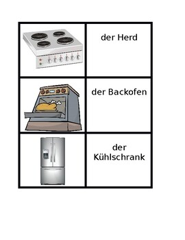 Appliances in German Concentration game