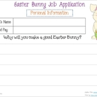 Application for the Easter Bunny Job