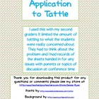 Application to Tattle Class Management Form