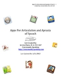 Applications for Articulation and Apraxia of Speech List