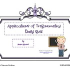 Applications of Trigonometry Daily Quizzes