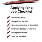 Applying for a Job Checklist