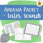 Apraxia Treatment Packet - later sounds