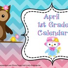 April 2013 1st Grade Calendar for ActivBoard