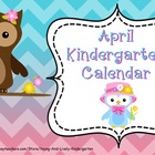 April Kindergarten Calendar for ActivBoard