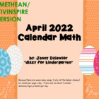 April 2013 calendar math for the Promethean Board