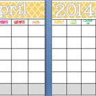 April 2014 Editable/Customizable Curriculum Planning Calendar