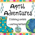 April Adventures literacy centers