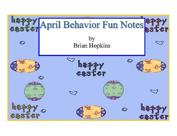 April Behavior Fun Note