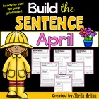 April Build the Sentence {20 black and white no prep printables}
