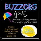 April Buzzer Packet (Bell Work-Journal) Common Core Writin
