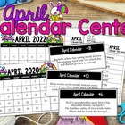 April Calendar Center Task Cards
