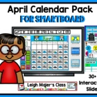 April Calendar and Math Pack for Smartboard