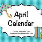 April Class Calendar