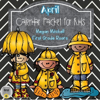 April Daily Calendar Review and Math Practice