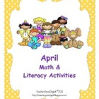 April Easter Math &amp; Literacy Activities