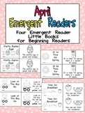 April Emergent Readers - A Book for Each Week- Easter, Spring