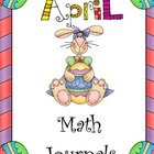 April Everyday Math Journals Printable
