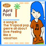 April Fool Song and lyrics - holiday humor, singing, girl