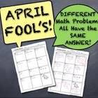 April Fool's Cumulative Math Quiz! (Different Problems All