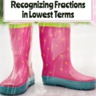 April Fraction Word Puzzles: Identifying Fractions in Lowe