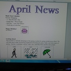 April Interactive Newsletter with Boardmaker Symbols for n