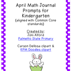 April Kindergarten Math Journal Prompts
