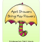 April Kindergarten Sight Words