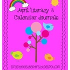 April Literacy Journal &amp; Calendar Journal