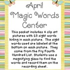 April Magic Words