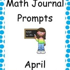 April Math Journal Primary