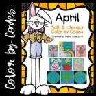 April Math &amp; Literacy Color by Codes