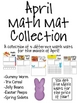 April Math Mat Collection:  ASSORTED FIVE PACK