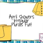 April Showers Irregular Plurals Fun!