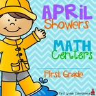 April Showers Math Centers First Grade