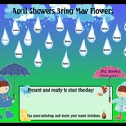 April Showers Smartboard Attendance