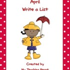 April Write a List